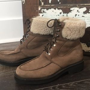Cole Haan brown/gray suede leather ankle boot